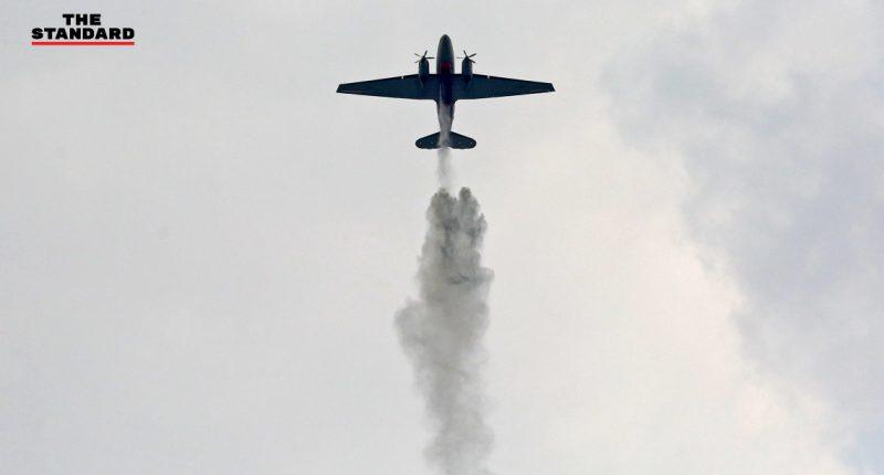 เครื่องบิน BT-67 บินโปรยละอองน้ำ_cover web