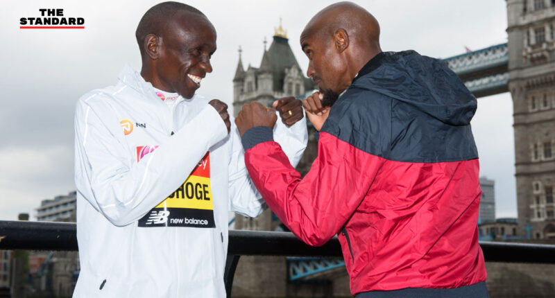 London Marathon 2019 ELIUD KIPCHOGE MO FARAH
