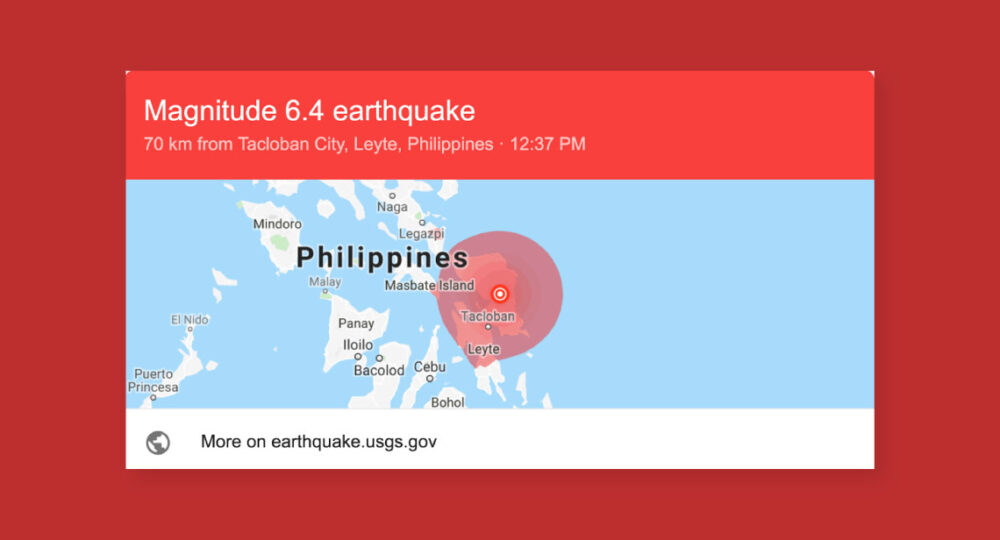 Philippines earthquak