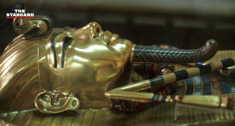 ancient King Tut's coffin
