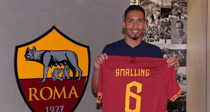Chris Smalling Joins Roma on 1-Year Loan Contract