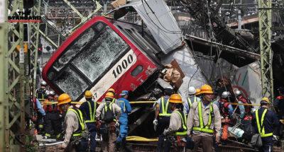 รถไฟชนรถบรรทุกในโยโกฮาม่า
