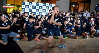 Japanese kids perform impressive haka