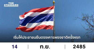 การยืนตรงเคารพธงชาติ