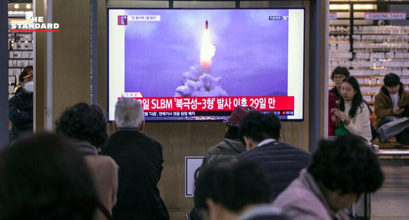 เกาหลีเหนือทดสอบเครื่องยิงจรวด