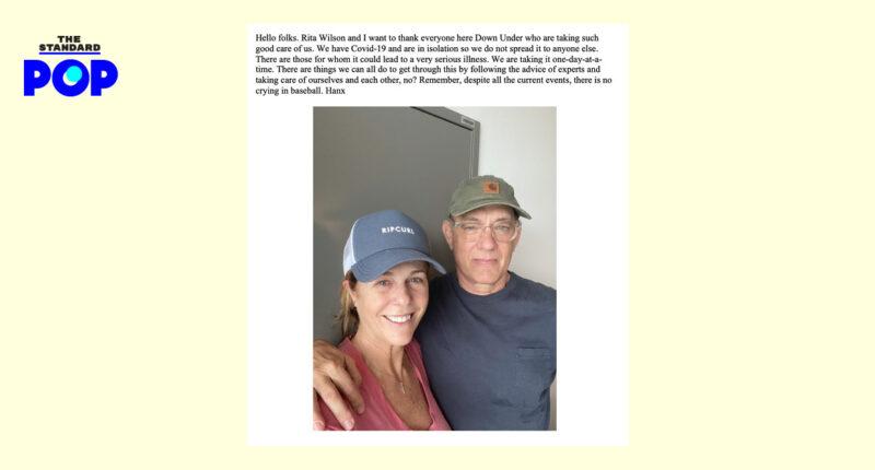 Tom Hanks เล่าประสบการณ์รักษาโควิด-19