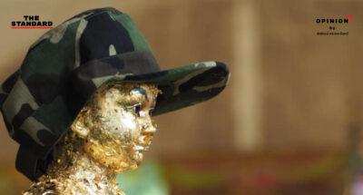 ไอ้ไข่ เด็กวัดเจดีย์ รูปปั้นไอ้ไข้ ปิดทอง