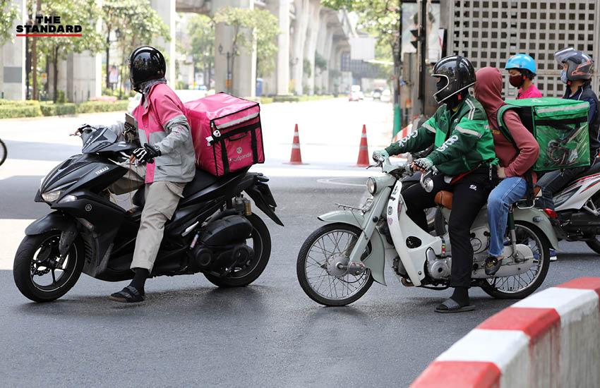 ฟู้ดเดลิเวอรี เดลิเวอรี่ ฟู้ดแพนด้า FoodPanda Grab GrabFood ขับรถส่งอาหาร