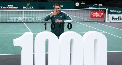 ราฟาเอล นาดาล เก็บชัยชนะแมตช์ที่ 1,000 ในระดับ ATP Tour จากการแข่งขัน Paris Masters