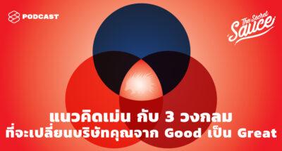 The Secret Sauce EP315 แนวคิดเม่น กับ 3 วงกลมที่จะเปลี่ยนบริษัทคุณจาก Good เป็น Great