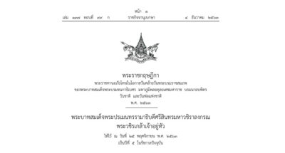 โปรดเกล้าฯ พ.ร.ฎ. พระราชทานอภัยโทษ 'วันคล้ายวันพระบรมราชสมภพ ร.9-วันพ่อ-วันชาติ' 5 ธันวาคม
