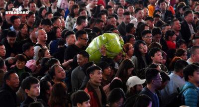 จีนคาดยอดคน 'เดินทางด้วยรถไฟ' ช่วงเทศกาลตรุษจีน 2021 มากถึง 407 ล้านครั้ง