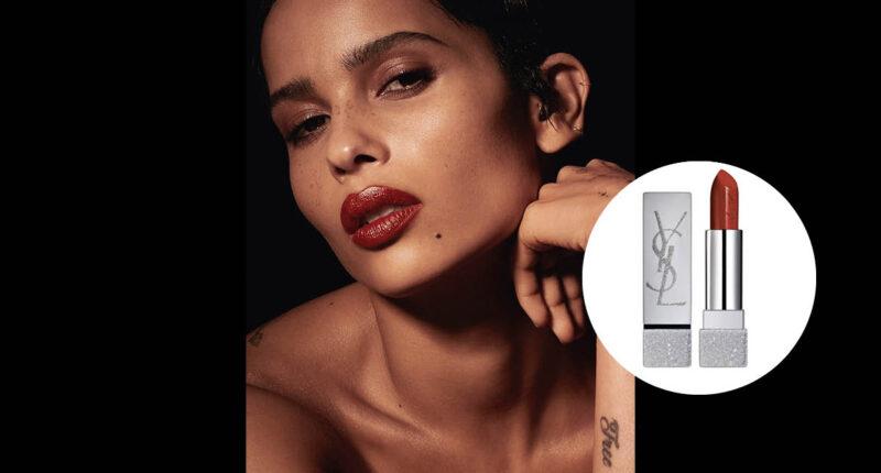 นักแสดง Zoë Kravitz ชิมลางออกแบบลิปสติกสีแดง 8 เฉดสุดปังให้กับ YSL Beauté
