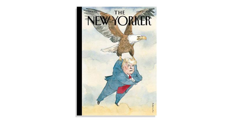 นิตยสาร The New Yorker ปล่อยภาพหน้าปกประจำสัปดาห์ ล้อเลียนการพ้นจากตำแหน่งของ Donald Trump