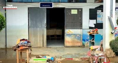 ครู-นักเรียนยะลาร่วมกันทำความสะอาดโรงเรียน หลังได้รับผลกระทบจากน้ำท่วมหนักในรอบ 6 ปี