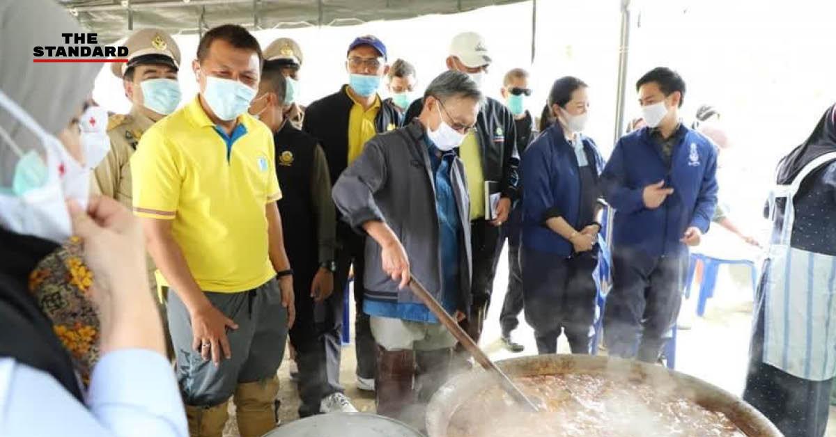 ชวน หลีกภัย ลงพื้นที่น้ำท่วม ปัตตานี