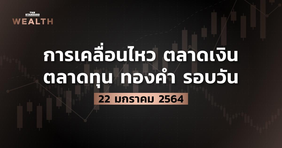การเคลื่อนไหวตลาดเงิน ตลาดทุน ทองคำ รอบวัน (22 มกราคม 2564)