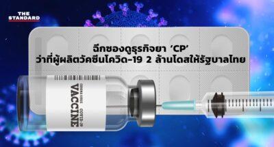 ฉีกซองดูธุรกิจยา 'CP' ว่าที่ผู้ผลิตวัคซีนโควิด-19 2 ล้านโดสให้รัฐบาลไทย