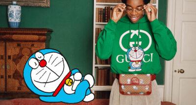 Gucci เปิดตัวภาพแคมเปญสำหรับคอลเล็กชันพิเศษที่ทำร่วมกับ Doraemon