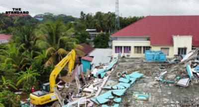แผ่นดินไหว-น้ำท่วมอินโดนีเซีย ดับแล้ว 96 ราย ไร้ที่อยู่อาศัยเกือบ 7 หมื่นราย