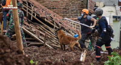 ฝนตกหนักทำดินถล่มในอินโดนีเซีย พบผู้เสียชีวิตอย่างน้อย 12 ราย