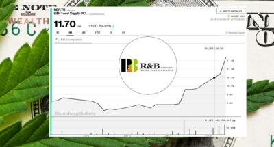 กระแส 'กัญชง' หนุนหุ้น RBF วิ่ง All Time High สัปดาห์เดียวราคาพุ่ง 32%