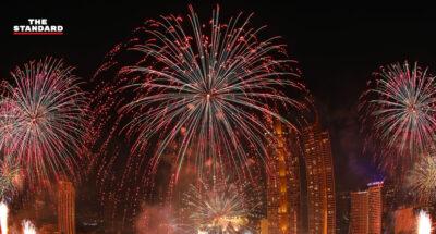 ไอคอนสยามเคานต์ดาวน์ยุคโควิด-19 จัดแสดงพลุ 25,000 ดอก บนโค้งน้ำเจ้าพระยา 1.4 กิโลเมตร