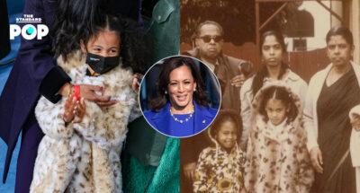 เหลนของ Kamala Harris ใส่เสื้อโค้ตลายเสือดาวไปร่วมพิธีสาบานตน ซึ่งเป็นลุคเดียวกับที่รองประธานาธิบดีสหรัฐฯ เคยสวมใส่ตอนเด็ก