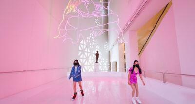 พิพิธภัณฑ์ศิลปะไทยร่วมสมัย (MOCA) แปลงบางส่วนให้กลายเป็นลานไอซ์สเกตแสนหวาน