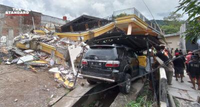 แผ่นดินไหวใหญ่เกาะสุลาเวสีของอินโดนีเซีย เสียชีวิตแล้วอย่างน้อย 7 คน เจ็บหลายร้อย