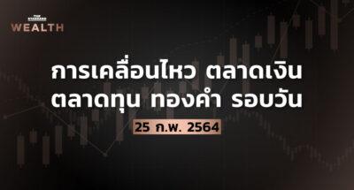การเคลื่อนไหวตลาดเงิน ตลาดทุน ทองคำ รอบวัน (25 กุมภาพันธ์ 2564)