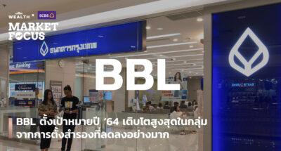 BBL ตั้งเป้าหมายปี '64 เติบโตสูงสุดในกลุ่มจากการตั้งสำรองที่ลดลงอย่างมาก