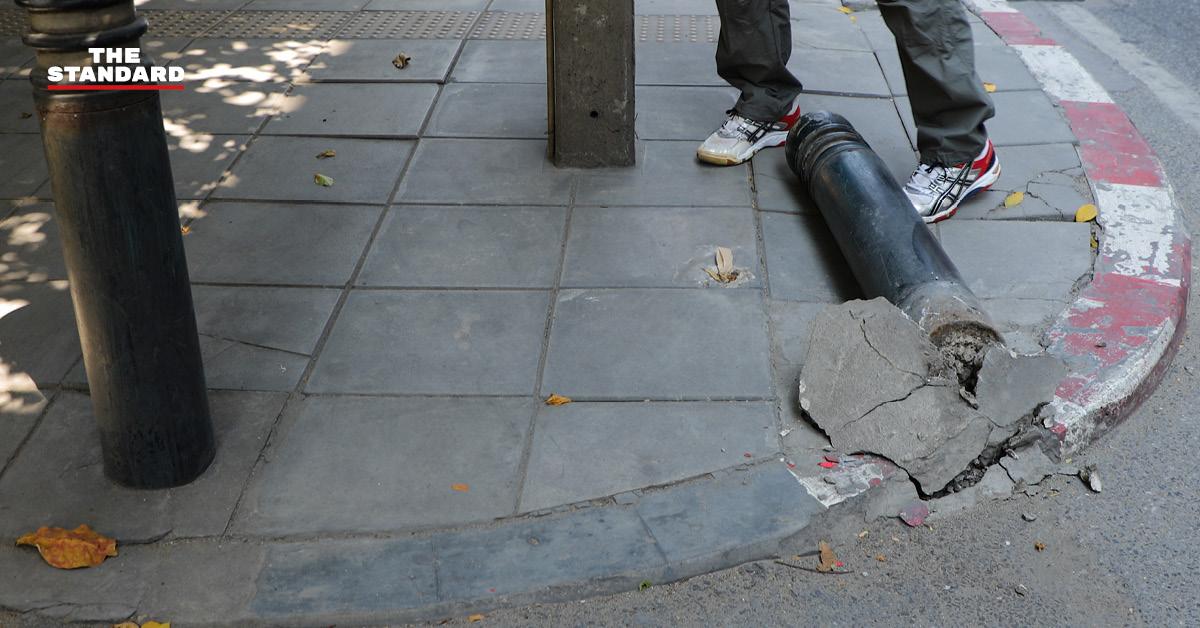 สายไฟ-กองขยะ-พื้นแตกร้าว ภาพสะท้อนปัญหาการจัดการทางเท้าในกรุงเทพมหานคร