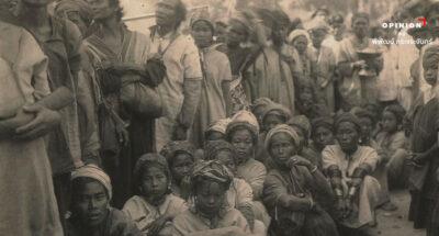 ชาวกะเหรี่ยงชายหญิงเมื่อคราวมารับเสด็จรัชกาลที่ 7 ถ่ายภาพเมื่อปี 2469 ที่เชียงใหม่ (ภาพ: หอจดหมายเหตุแห่งชาติ)