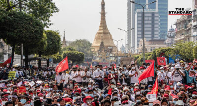 ผู้ชุมนุมในเมียนมาเรียกร้องให้อาเซียนไม่รับรองรัฐบาลเผด็จการทหาร หลังกองทัพเริ่มเคลื่อนไหว ส่ง รมว. ต่างประเทศคุยกับประเทศสมาชิก