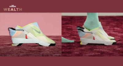 GO FlyEase รองเท้าผ้าใบไร้เชือกคู่แรกของ Nike ที่ใส่และถอดได้ง่ายโดยไม่ต้องใช้มือ