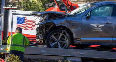 ไทเกอร์ วูดส์ ประสบอุบัติเหตุรถคว่ำที่แอลเอ ได้รับบาดเจ็บหนักที่บริเวณขา ต้องเข้ารับการผ่าตัดด่วน