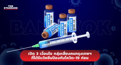 เปิด 3 เงื่อนไข กลุ่มเสี่ยงคนกรุงเทพฯ ที่ได้รับวัคซีนป้องกันโควิด-19 ก่อน