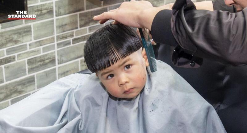 เด็กจีนตัดผมรับโชคลาภ วัน 'มังกรเงยหัว'