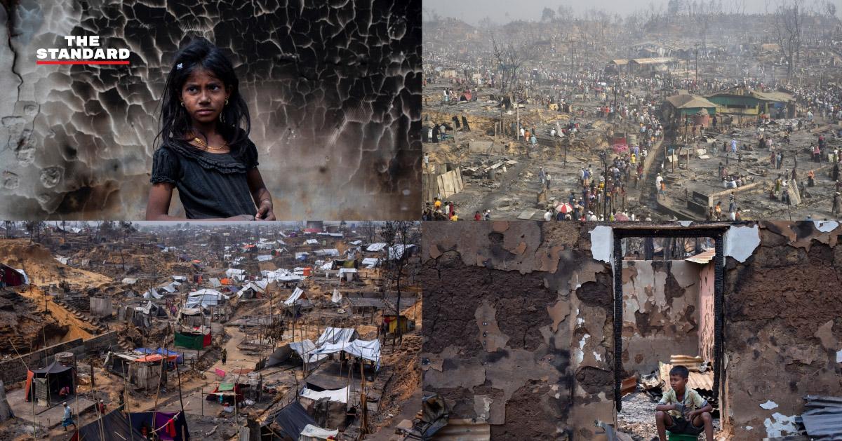 สำรวจความเป็นอยู่ชาวโรฮีนจา หลังไฟไหม้ครั้งใหญ่ค่ายผู้ลี้ภัยในบังกลาเทศ