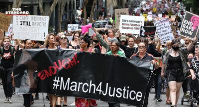 ชาวออสเตรเลียทั่วประเทศเดินขบวนประท้วงต่อต้านการคุกคามทางเพศสตรี