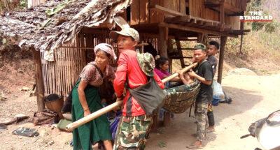 ชาวกะเหรี่ยงหนีตาย อาศัยในป่าเขตไทยเกือบ 5,000 คนแล้ว หลังทหารเมียนมาส่งเครื่องบินบอมบ์ต่อเนื่อง