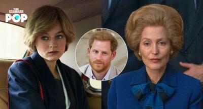 Emma Corrin และ Gillian Anderson กล่าวถึงความคิดเห็นของเจ้าชายแฮร์รีที่มีต่อซีรีส์ The Crown