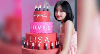 เครื่องสำอาง M.A.C จัดเค้กวันเกิดสุดปังให้กับ ลิซ่า-ลลิษา มโนบาล ในฐานะ Global Brand Ambassador คนปัจจุบัน