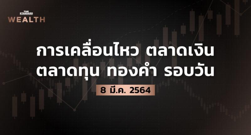 การเคลื่อนไหวตลาดเงิน ตลาดทุน ทองคำ รอบวัน (8 มีนาคม 2564)