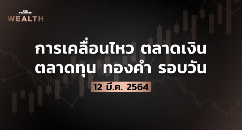 การเคลื่อนไหวตลาดเงิน ตลาดทุน ทองคำ รอบวัน (12 มีนาคม 2564)