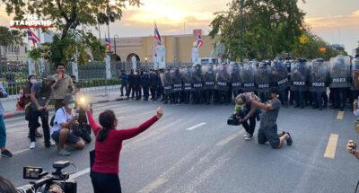 ตำรวจตรึงกำลัง เตรียมสลายและบังคับใช้กฎหมาย กลุ่มผู้ชุมนุมทวงคืน #หมู่บ้านทะลุฟ้า
