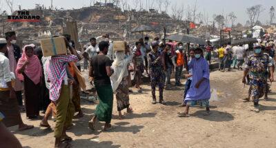 UNHCR-อาสาสมัครในบังกลาเทศ เร่งช่วยเหลือเหตุเพลิงไหม้ครั้งใหญ่ ผู้ลี้ภัยโรฮีนจากว่า 4.5 หมื่นคน ไร้ที่อยู่