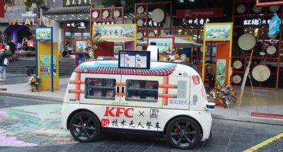 ยลโฉมการขายไก่ทอดแบบล้ำๆ ของ KFC ในแดนมังกร ด้วย 'รถไร้คนขับ' ควบคุมผ่าน 5G