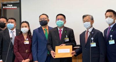 75 ส.ส. เพื่อไทย ยื่นคำร้องขอวินิจฉัยความเป็นรัฐมนตรีของประยุทธ์ หลังซักฟอกปมรถไฟฟ้าสายสีเขียว